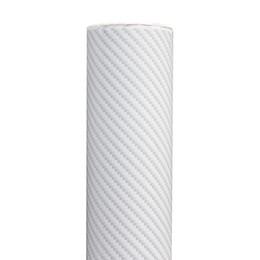 Carbono, fibra, vinil, branca, car on-line-Branco Etiqueta Do Carro 2D Fibra De Carbono Textura Vinyl Wrap Decal Automóvel Filmes 300 * 1520 MM