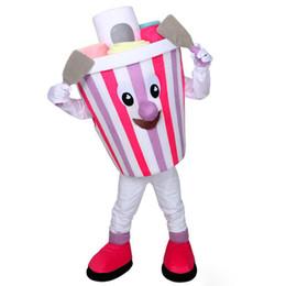 Eiscreme-maskottchen online-2018 rabatt fabrik verkauf Schöne bunte Eis Maskottchen Kostüm Cartoon Charakter erwachsene Halloween party Karneval Kostüm