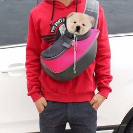 2019 luz - saco cor-de-rosa do cão Pet Carrier Cat Filhote de Cachorro Cão Pequeno Animal Transportadora Estilingue Malha Dianteira Viagem Tote Bolsa de Ombro Mochila S e L