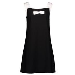 Bracelet Mini Robe Femmes Été 2019 Chic Rue Rue Hipster Goth Une Ligne Arc Doux Mignon Jeune Fille Casual Noir Robes Courtes ? partir de fabricateur