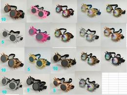 Óculos de soldagem on-line-Steampunk Óculos Óculos De Solda Do Victorian Do Vintage Cosplay Goth Punk Traje Óculos De Sol