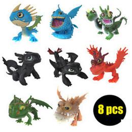 Azioni figure draghi online-Come addestrare il tuo Dragon2 Action PVC Figure Toy Doll NightFury Dente senza denti Giocattoli Kid Child Favoriti per feste ZZA1104