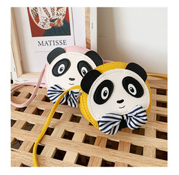 Напечатанные сумки китай онлайн-Kids Handbags Fashion print Designer baby Purse Teenager Girls Mini Messenger NEW China Panda Bags Children PU Shoulder Bags 5 colors A39