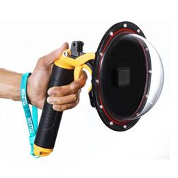 2019 casquillos centrales a presión Cúpula de buceo Puerto impermeable de la caja de filtro conmutable Cúpula para GoPro héroe 7 6 5 Negro caja del gatillo para Go Pro 7 accesorios