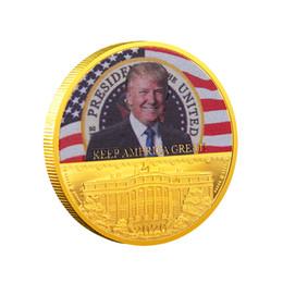 águila de oro americana Rebajas Donald Trump Eagle Coin American 45th President Moneda conmemorativa Keep America Great Metal Badge Craft Collection