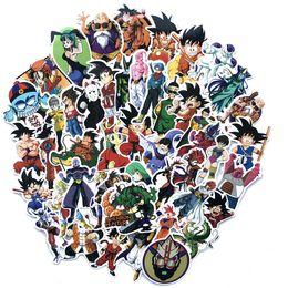 100 pçs / set Jogo Dragon Ball Z Etiqueta Graffiti Personalidade Bagagem DIY Adesivos PVC Dos Desenhos Animados Adesivos de Parede Saco Acessórios Crianças Brinquedos de Presente de Fornecedores de bola de dragão z bolsas