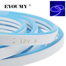 2019 tira de neón led flexible azul Eyoumy Mini luces de neón 2835 DC 12V 5M 6 * 12MM Luz LED flexible de tira de neón para la decoración (Verde Rojo Rosa Amarillo Azul Blanco) tira de neón led flexible azul baratos