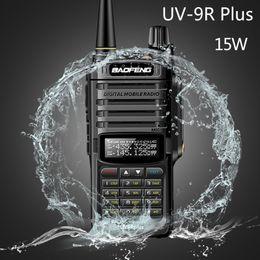 Radio di prosciutto online-2020 Baofeng UV9R più 15w impermeabile walkie-talkie ad alta potenza CB Ham 20KM Long Range UV9R portatile radio bidirezionale per la caccia