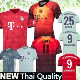 2019 camisolas uniformes mulheres New Bayern Munich camisa de futebol 2019 Müller RIBERY ROBBEN LEWANDOWSKI camisas de futebol Bayern Munique uniformes de futebol MULHERES homem Crianças Kits camisolas uniformes mulheres barato