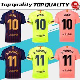 c13b4d5a4 Barcelona Home Soccer Jerseys 18 19 barça  10 MESSI  8 ARTHUR Away Soccer  Shirt  11 O.DEMBELE  9 SUAREZ   3rd Football Uniform Size S-4XL