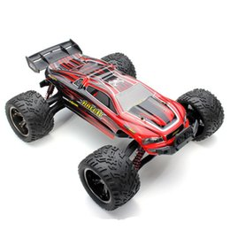 Monster truck rc online-Commercio all'ingrosso 9116 1/12 scala 2.4G 4CH camion 2 ruote guidate elettrico racing spazzolato monster car 9.6 v 700ma batteria rc cars