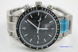 Billige uhrenarmbänder online-Günstige New Professional Moonwatch Black Dial 311.30.42.30.01.005 Automatische Herrenuhr Edelstahl Armband Herrenuhren