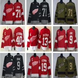 Detroit Red Wings für Herren Justin Abdelkader Redwings Home Auswärts Rot Weiß Eishockey Trikot Alle Spieler in Eishockey Trikots von Fabrikanten