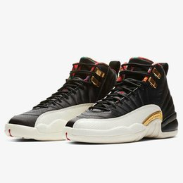 02078c1442f898 Discount retro 12s - A Quality 12 CNY Winterized Gym Red Mens Basketball Shoes  12s XII