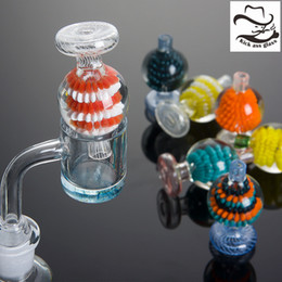 2019 tubi acrilici chiari Beracky US Color Glass Bubble Carb Cap Ball Tappi di vetro per bordo smussato Quarzo Banger Chiodi Bong d'acqua di vetro Tubo Dab Rigs 967