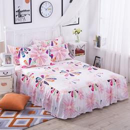 cobertor de coberta contornado Desconto Saia de cama de flores coloridas para crianças adultos única cama de casal Saias de lixamento de poliéster 100% (sem fronha) XF634-26