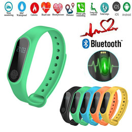2019 smart gesundheit fitness schrittzähler M2 Smart Armband Fitness Tracker Smart Watch Pulsmesser Wasserdicht Smart Armband Schrittzähler Anruf erinnern Gesundheit Armband