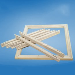 Quadros de pintura a óleo baratos on-line-Barato Diamante Ponto Cruz Diamante Pintura Acessórios DIY moldura de madeira Óleo por números de madeira adesivo AS1095