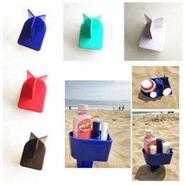 Plastiksand online-5 stile Strand Getränkehalter Ozean Kunststoff Sand Tasse Griffe kreative Strand Lagerung Werkzeuge ourdoor party Urlaub Urlaub Reise Tools FFA1985