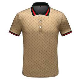 Canada 2019 luxe Italie concepteur rayé polo shirt t-shirts De luxe polo serpent abeille broderie florale mens High street fashion cheval polo T-shirt13 Offre