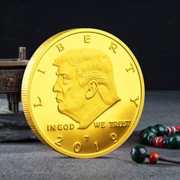 calaveras de latón de cobre Rebajas 2019 2020 Moneda conmemorativa de Donald Trump El presidente de Estados Unidos Monedas de oro Insignia Colección de artesanía de metal Keep America GREAT Again