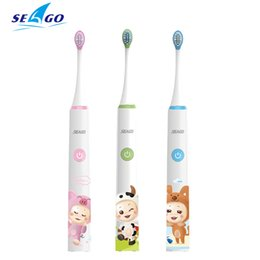 sg electric Coupons - Seago Children Electric Toothbrush Rechargeable 3-6-12 Years Old Waterproof Child Baby Automatic Toothbrush Sound Wave Sg-sk2 J190628