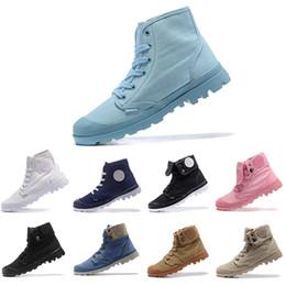 2019 зашнуровать ботинок холстины boots Горячие продажи новый дизайнер обуви палладий куницы армия зеленый кроссовки удобные дешевые ботильоны зашнуровать холст мужчины Повседневная обувь бесплатная доставка дешево зашнуровать ботинок холстины