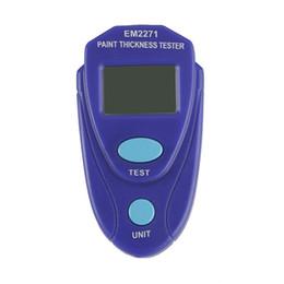 Medidor de medidor de prueba online-Medidor de espesor de pintura digital EM2271 Pintura Pantalla LCD Medidor de pintura de coche Medidor de recubrimiento de espesor