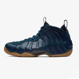 Scarpe blu penny hardaway online-2019 Foam One Pro Floral CNY Midnight Navy Gum Penny Hardaway Scarpe da basket da uomo di buona qualità Nero Blu Uomo Schiume Sport Sneakers 7-13