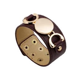 Argentina Venta al por mayor de joyería de moda ancla de aleación de cuero pulsera hombres personalidad ocasional PU pulsera moldeada de la vendimia pulsera punky de las mujeres B0452 cheap coral beaded bracelets Suministro