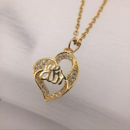 серьги из золота 24k Скидка Бесплатная доставка новый 24 К 18 К желтое золото в форме сердца Кулон Ожерелья ювелирные изделия мода кристалл драгоценного камня ожерелье Рождественский подарок
