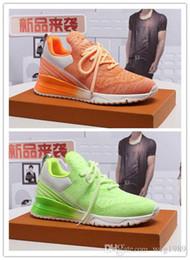 Zapatos hombres boutique online-Louis Vuitton zapatos deportivos de los nuevos hombres moda boutique zapatos casuales negro naranja verde zapatos deportivos tamaño 38-44