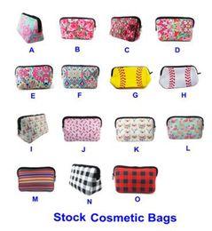 Бейсбольные сумки онлайн-Новый 15 стиль дизайнерские сумки косметичка сумка для хранения цветов роза бейсбольная сумка мода ноль кошелек плед ткань сумки AA19126