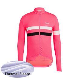 ciclismo jersey team inverno inverno pile Sconti RAPHA team Cycling Winter Thermal Fleece jersey Traspirante Hot Nuova camisa de ciclismo Ropa Ciclismo U60324