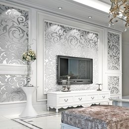 2019 tallas de la pared china Moderna minimalista estéreo 3D TV de fondo de papel de pared de la sala dormitorio pintado no tejido grueso Ambientalmente