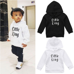 kind weißer mantel Rabatt Pudcoco New Spring Herbst Hoodies Kid Baby Boy Little King Print Top Pullover Sweatshirt Mantel SchwarzWeiße Oberbekleidung Kinderkleidung