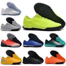 Homens sapatos de futebol de interior on-line-2019 Crianças Botas de Futebol de Tornozelo Baixo Juventude CR7 VaporX IX IC IC Turbo Sapatos de Futebol Das Mulheres Dos Homens SuperflyX Neymar Chuteiras De Futebol Interior
