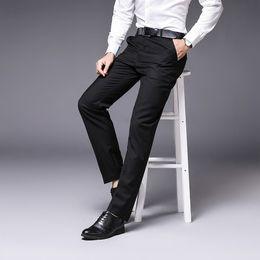 2019 мужская одежда 2019 Summer Men Fashion New Style Suit Pants Dress Pants Straight Business Office Mens Formal Big Size Classic Trousers B1 скидка мужская одежда