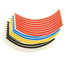Pneu Rim Adesivos Tiro Proteção Decoração Automobile Rim Roda Adesivos Protector Decorações Car-styling 8 Tiras de