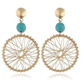 wholesale beads usa Promo Codes - AMAZING SEIZE DREAM NET BEADS WOMEN EARRING DANGLED EAR STUD USA EUROPE POPULAR LADY GIRL EARRINGS AWESOME EAR JEWELRY CHIC JEWELRIES