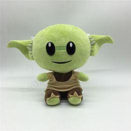 2019 cosplay naruto zeichen Neueste Baby Yoda Plüsch-Spielzeug-Puppe 18cm weiche Kuschelpuppen Das Mandalorian Film Anime Yoda Action-Figuren Erwachsene Kinder Kinderspielzeug Geschenk E1905