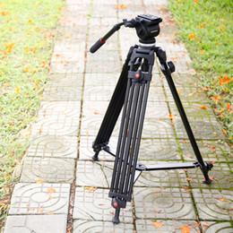 Video caricato online-ripod testa fluida ASHANKS Professionale Fotografia Camera Tripod 1.6M Carico 5KG Dslr Studio Video Stand con fluido di smorzamento testa rapida Relea ...