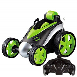 ролик дистанционного управления Скидка Wireless Remote Control Stunt Dancing RC Car Boy Children's Toys 360 Tumbling Roller Rotating Wheel Vehicle Toy
