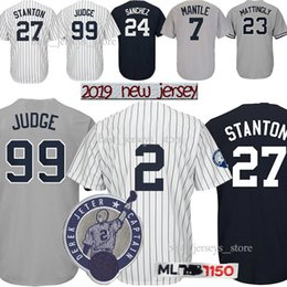 29c96da5c rivera jersey 2019 - 99 Aaron Judge New York jerseys Yankees 2 DJ 27 GS 3