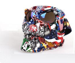 Маска для лица Goggle Персонализированные очки с изображением головы черепа Мотоцикл Внедорожник Лобовое стекло Ветрозащитный Лыжи Внедорожные очки Trend Защитные очки от
