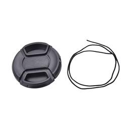 casquillos centrales a presión Rebajas Tapa de lente frontal de 52 mm con tapa frontal duradera para Nikon + Leash