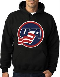 Командные хоккейные толстовки онлайн-США Хоккейная команда Printed толстовки Толстовка