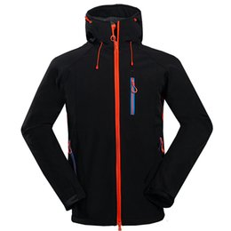 19fdd44076 2019 New men s outdoor camping hiking sports north jacket composite velvet  soft shell face coat 1556
