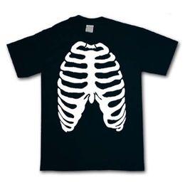 CAMISETA RIB CAGE - Halloween Skeleton Fancy Dress Ribcage Goth - ENVIO GRATIS desde fabricantes