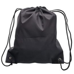 2019 la bolsa de asas del gimnasio del poliéster Bolsas de mochila con cordón de 6 paquetes, bolsa de asas de hombro plegable de poliéster 420D para Picnic Gym Sport Beach Travel Storage rebajas la bolsa de asas del gimnasio del poliéster